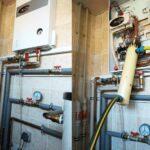 Процес промывки котла отопления